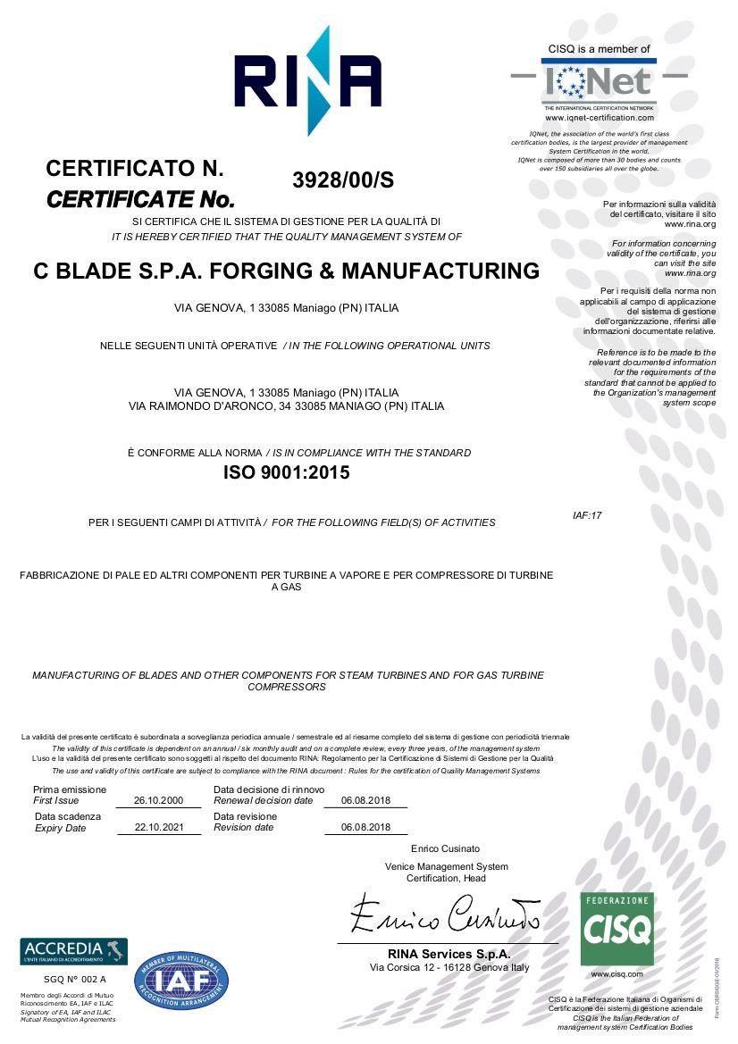 C BLADE 2018 ISO 9001_2015