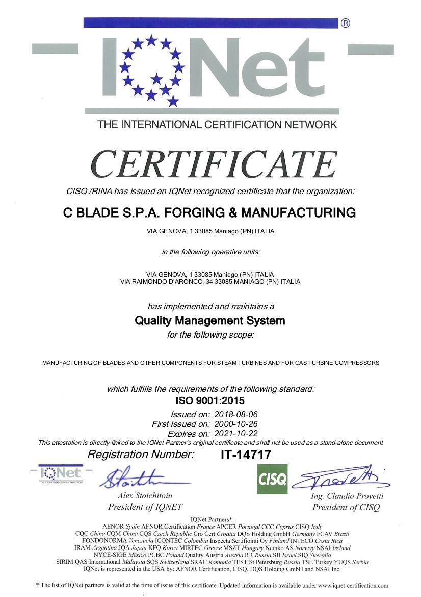 CBLADE 2018 IQNet ISO 9001_2015