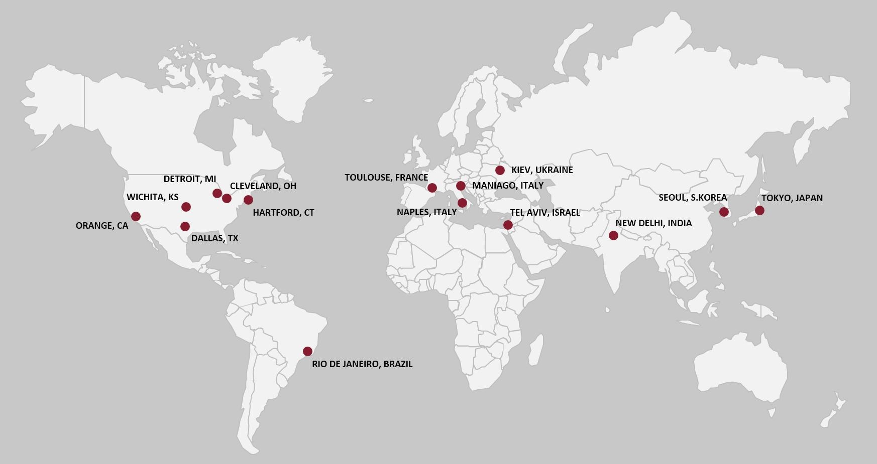 SIFCO commercial footprint