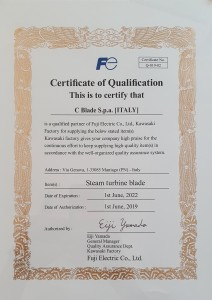 Fuji Electric Certificate of Qualification C Blade S.p.a.