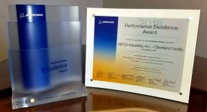 Boeing Performance Excellence Award 2018